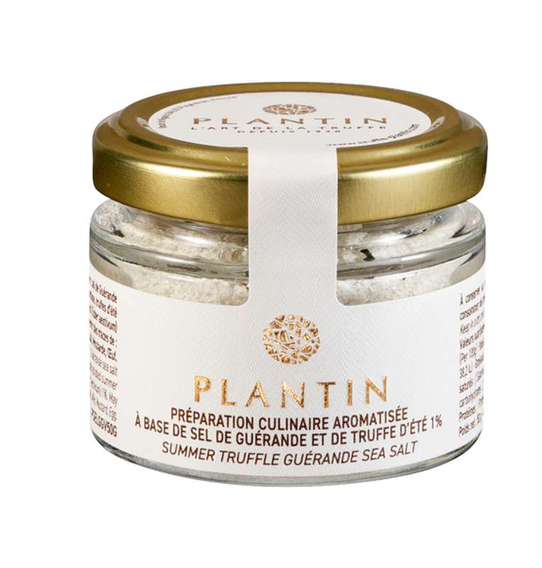 Préparation culinaire aromatisée à base de sel de Guérande et de truffe d'été 1%, Plantin (50 g)