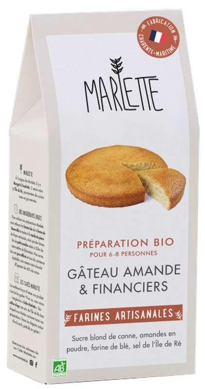 """Préparation """"Gâteau amande & Financiers"""" BIO, Marlette (250 g)"""