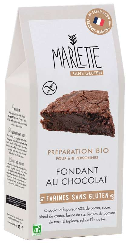"""Préparation """"Fondant au chocolat"""" BIO & Sans Gluten, Marlette (320 g)"""