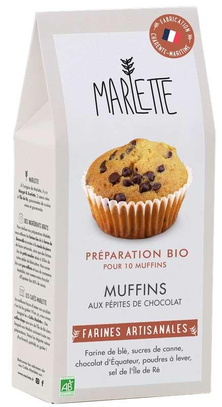 """Préparation """"Muffins aux pépites de chocolat"""" BIO, Marlette (350 g)"""
