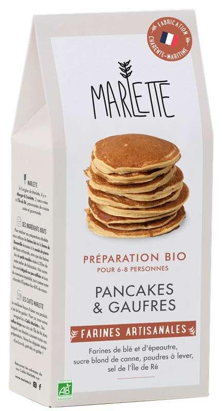 "Préparation ""Pancakes & gaufres"" BIO, Marlette (350 g)"