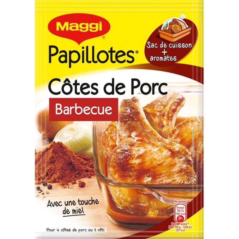 Assaisonnement pour papillottes façon côte de porc au barbecue, Maggi (28 g)