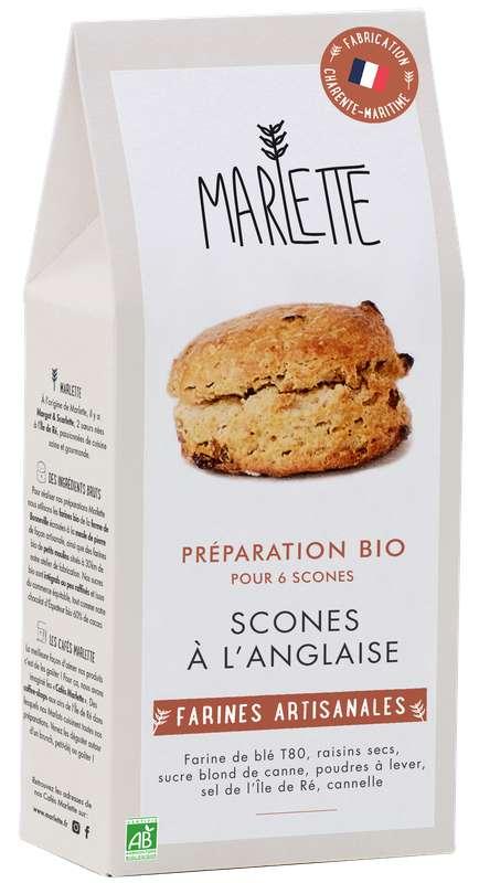 """Préparation """"Scones à l'anglaise"""" BIO, Marlette (450 g)"""