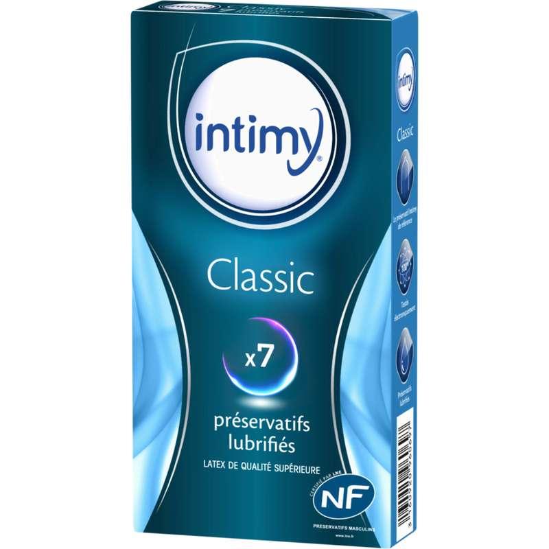 Préservatifs classic lubrifiés, Intimy (x 7 unités)