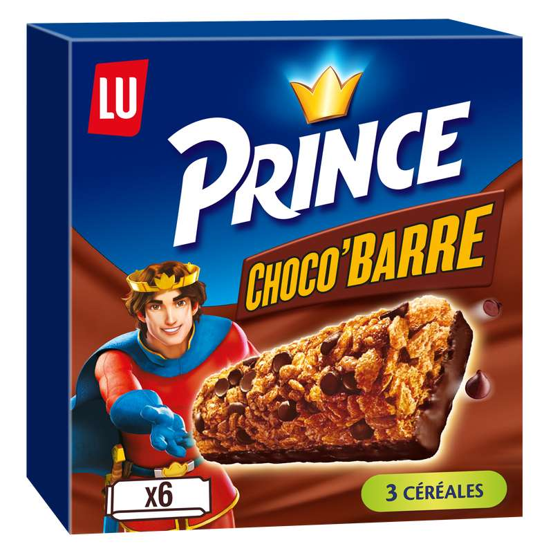 Prince Choco Barre, Lu (6 barres, 125 g)