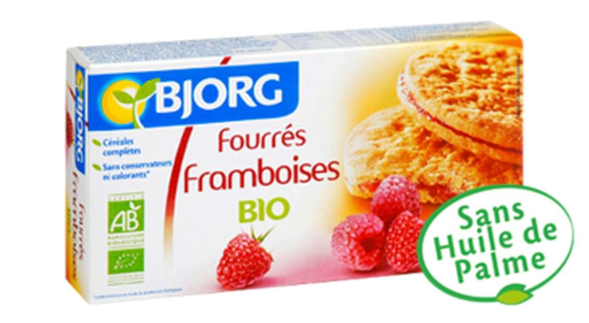Biscuits fourrés à la framboise BIO, Bjorg (175 g)
