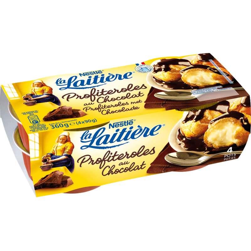 Profiteroles au chocolat, La Laitière (4 x 90 g)