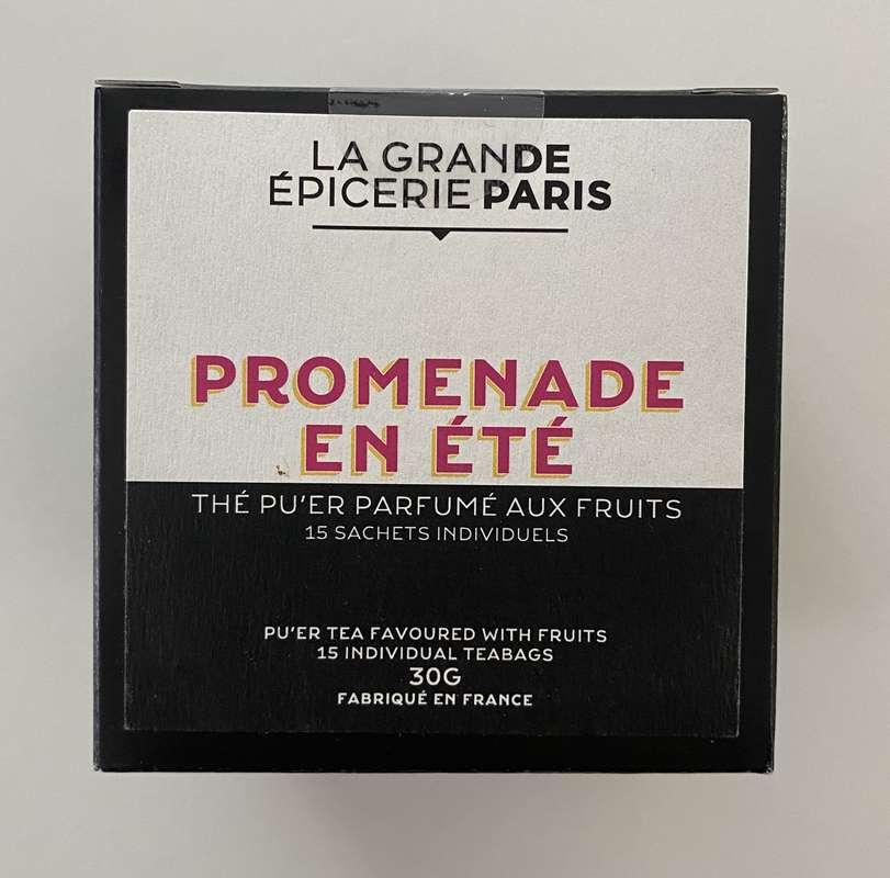 Promenade un été, thé Pu'Er aux fruits, La Grande Epicerie de Paris (x 15)