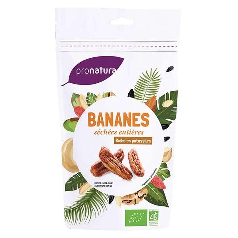 Banane séchée moelleuse entière BIO, Pronatura (250 g), Sri Lanka