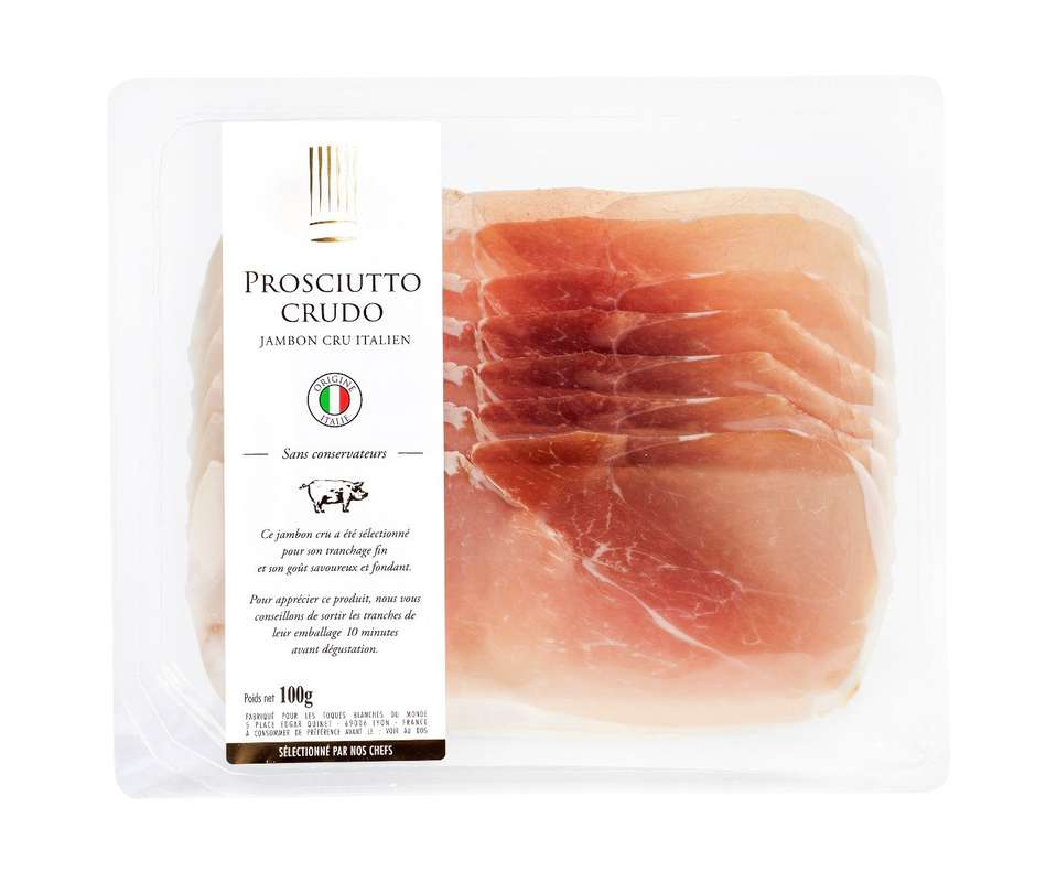 Prosciutto Crudo, Les Toques Blanches du Monde (6 tranches, 100 g)