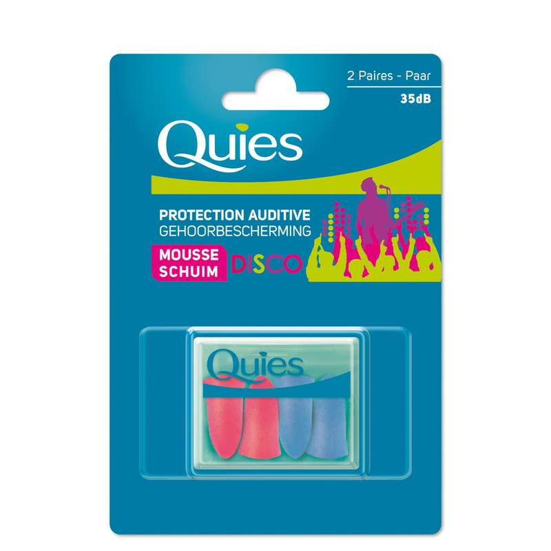 Protections auditives en mousse disco, Quies (x 2 paires)