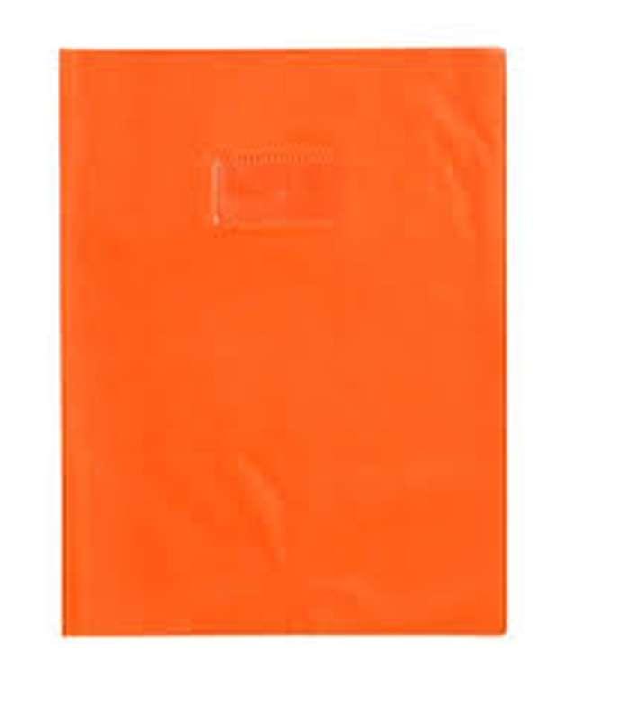 Protège-cahiers petit format épais Orange (17 x 22 cm)