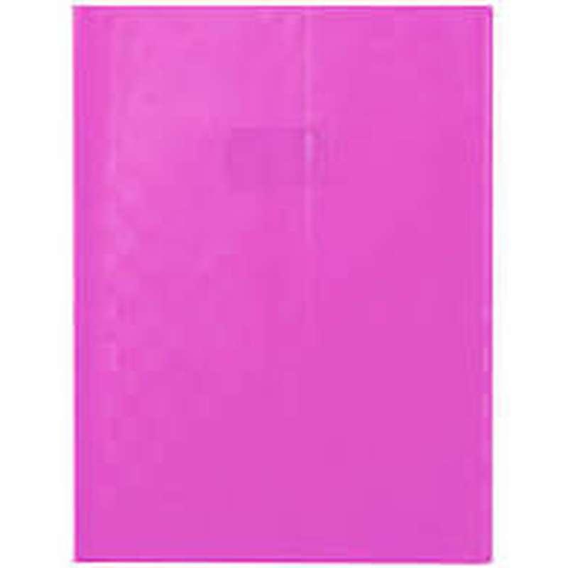 Protège-cahiers petit format épais Rose (17 x 22 cm)