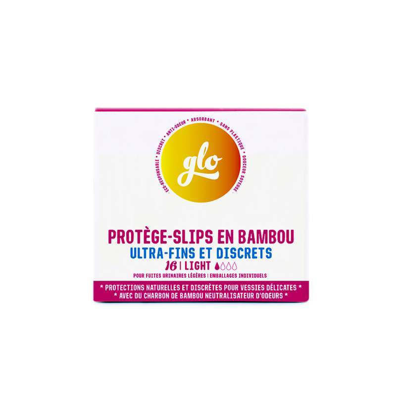 Protège-slips anti-fuites en bambou, Glo (x 16)