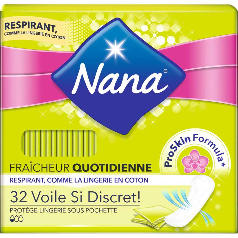 Protège-slips voile Si Discret, Nana (x 32)