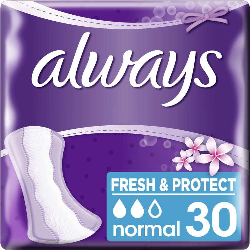 Protèges slip Fresh & Protect, Always (x 30)