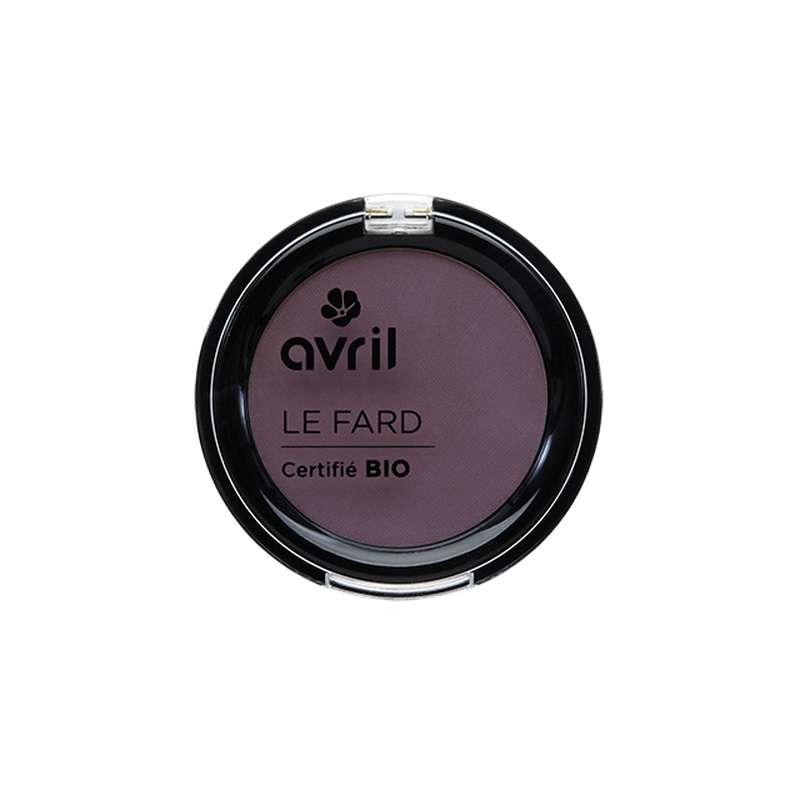 Fard à paupières prune irisé certifié BIO, Avril (2,5 g)