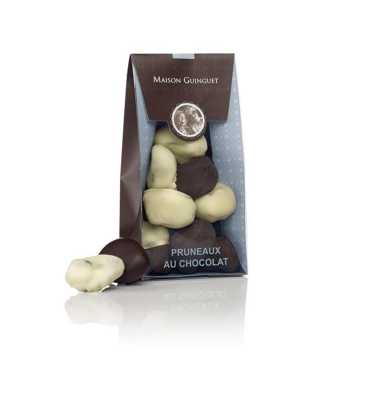 Pruneaux au chocolat noir et blanc, Maison Guinguet (200 g)