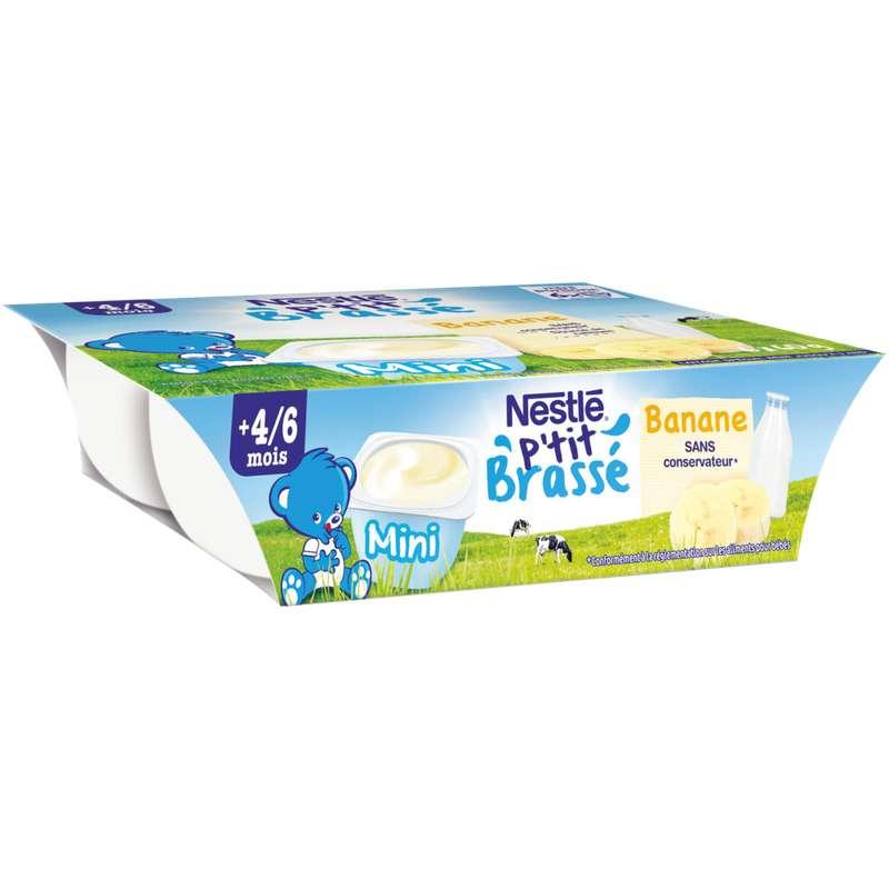 P'tit brassé banane - dès 4/6 mois, Nestlé (6 x 60 g)