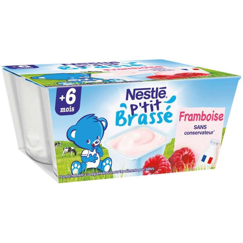 P'tit brassé framboise - dès 6 mois, Nestlé (4 x 100 g)