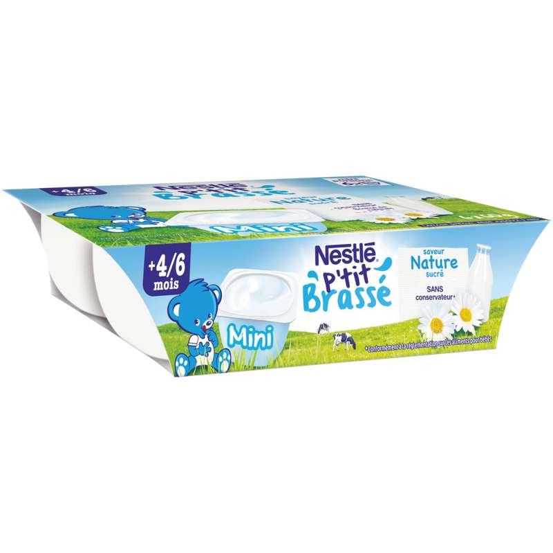 P'tit brassé nature - dès 4/6 mois, Nestlé (6 x 60 g)