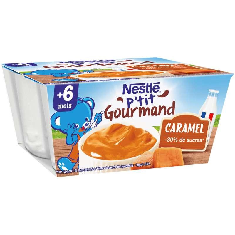 P'tit gourmand au caramel - dès 6 mois, Nestlé (4 x 100 g)