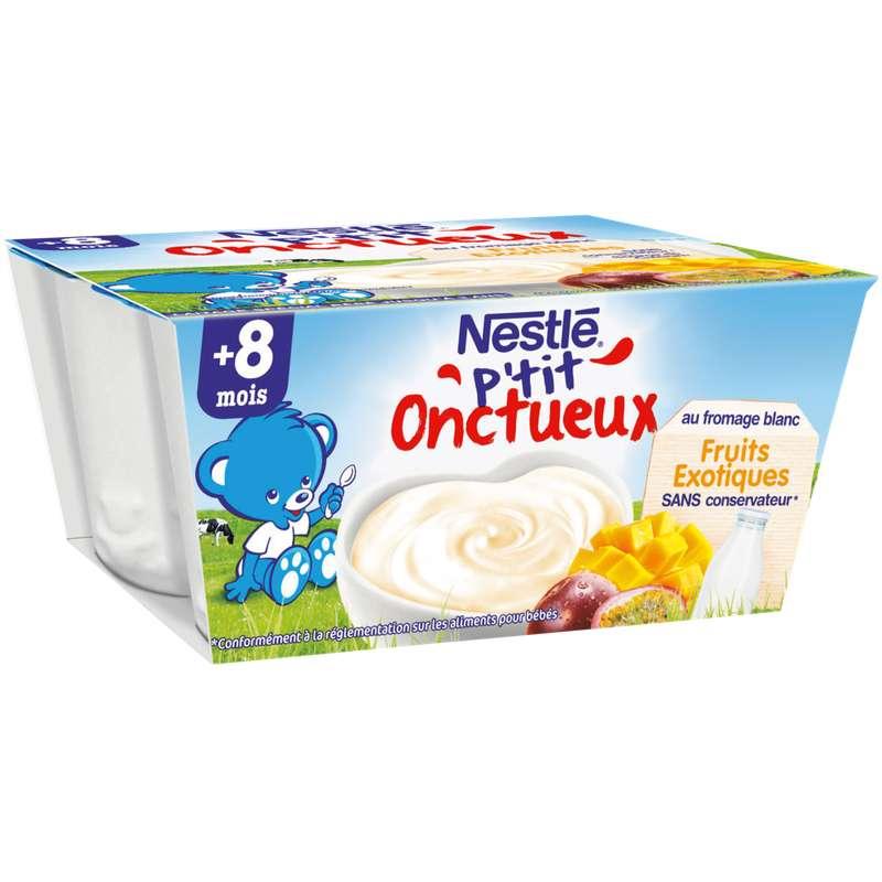 P'tit onctueux au fromage blanc fruit exotique - dès 8 mois, Nestlé (4 x 100 g)