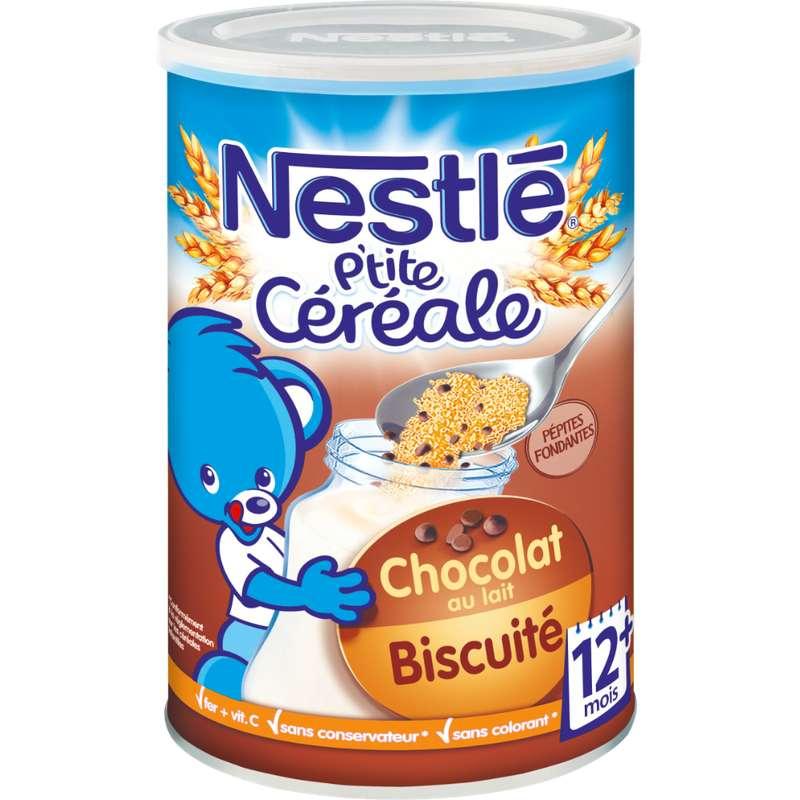 P'tite céréale au chocolat au lait biscuitée aux pépites fondantes - dès 12 mois, Nestlé (400 g)
