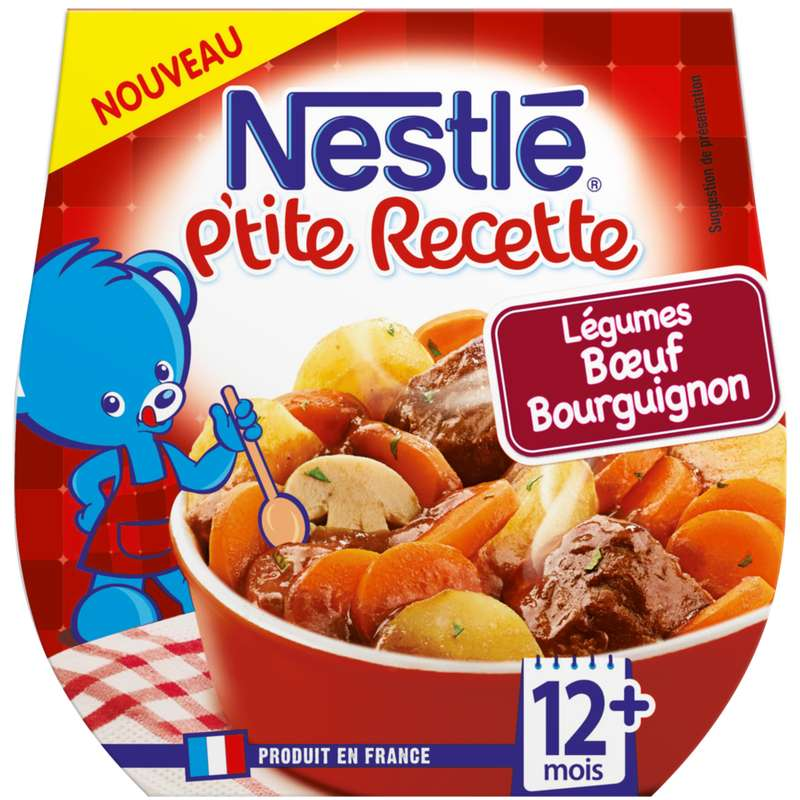P'tite recette boeuf bourguignon - dès 12 mois, Nestlé (2 x 200 g)