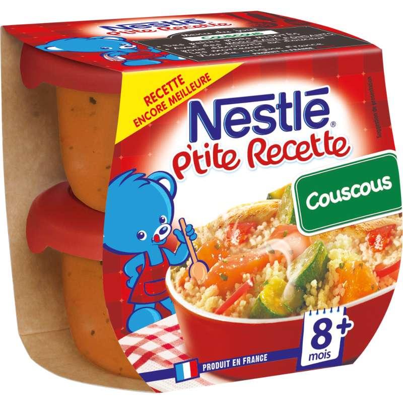 P'tite Recette de couscous - dès 8 mois, Nestlé (2 x 200 g)