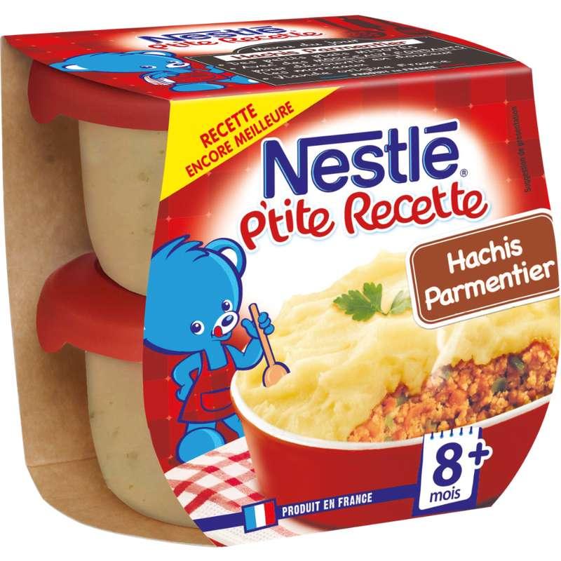 P'tite Recette hachis parmentier - dès 8 mois,  Nestlé (2 x 200 g)