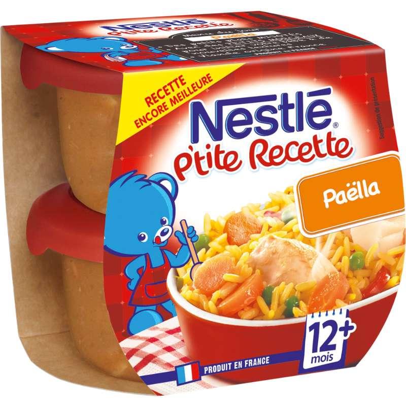 P'tite Recette paella - dès 12 mois, Nestlé (2 x 200 g)