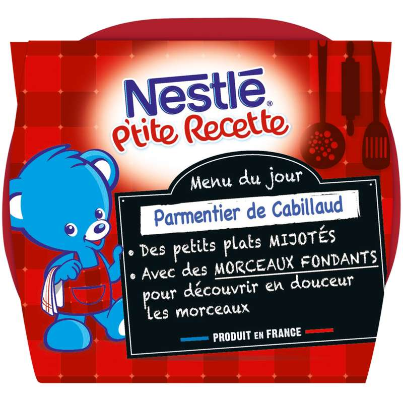 P'tite recette parmentier cabillaud - dès 8 mois, Nestlé (2 x 200 g)
