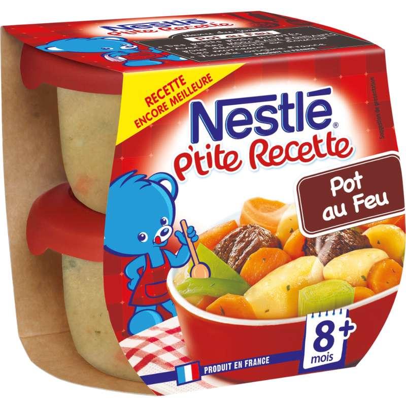 P'tite Recette pot au feu de boeuf - dès 8 mois, Nestlé (2 x 200 g)