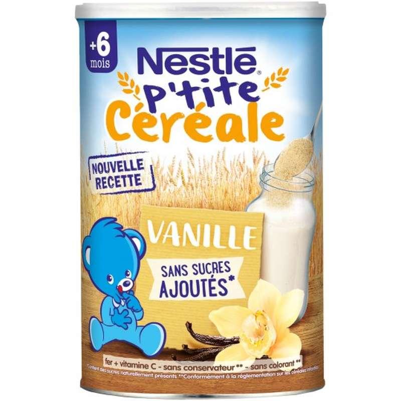 P'tite céréale vanille sans sucres ajoutés - dès 6 mois, Nestlé (400 g)