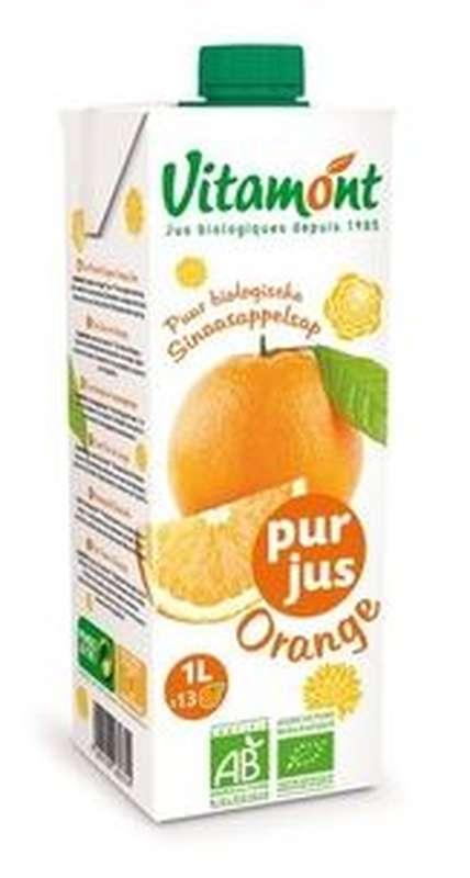 Pur jus d'orange BIO, Vitamont (1 L)