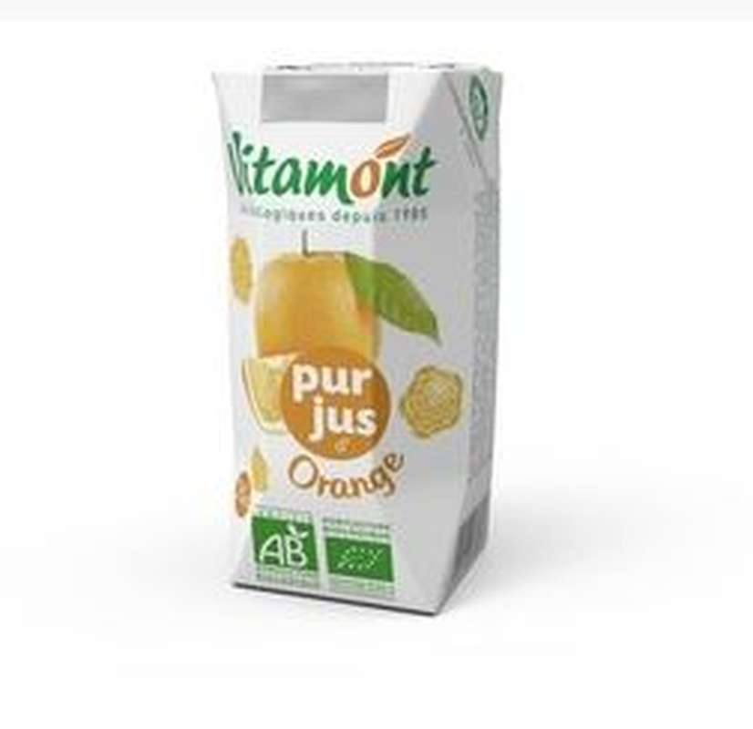 Pur jus d'orange BIO, Vitamont (20 cl)
