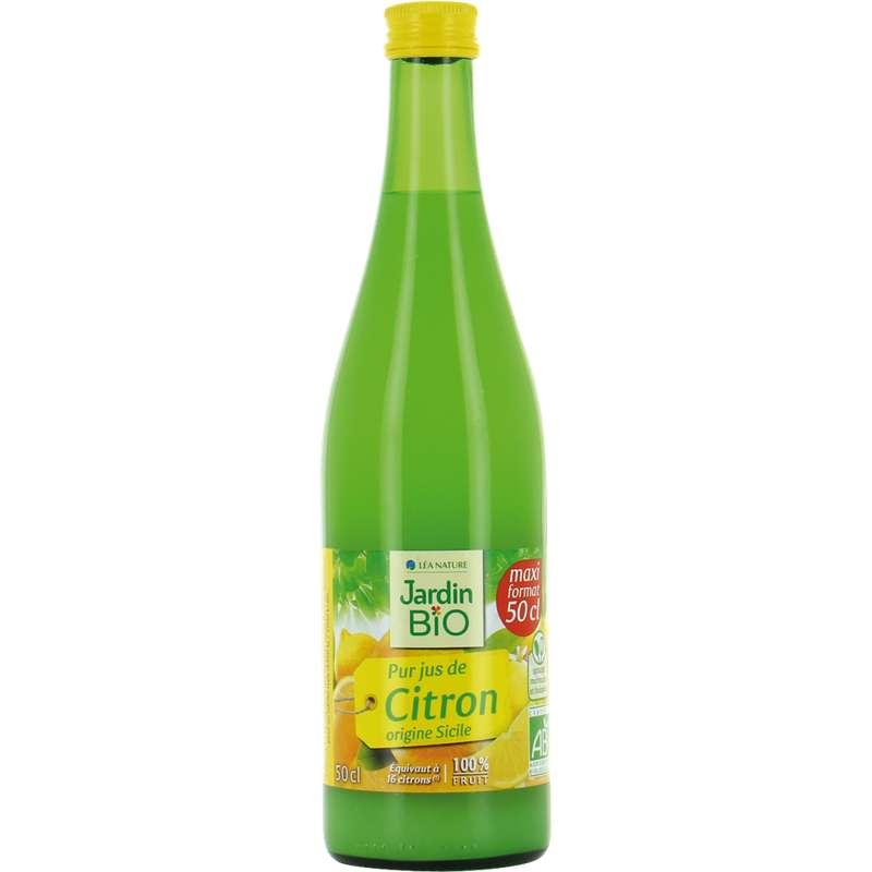Pur jus de citron BIO origine Sicile, Jardin Bio (50 cl)