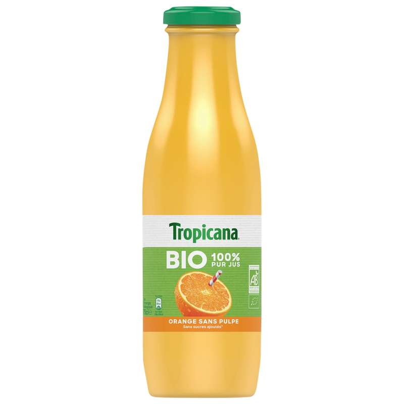 Jus d'orange BIO, Tropicana (75 cl)