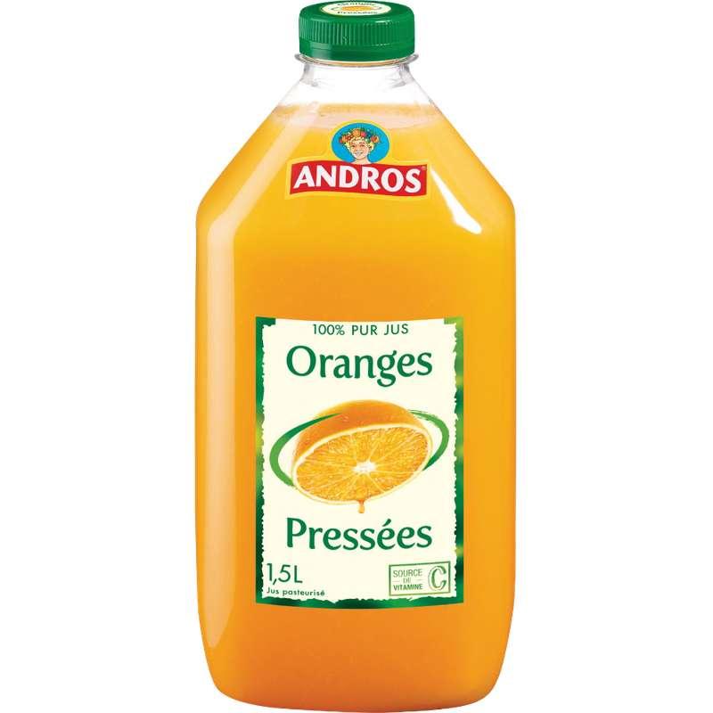 Jus d'oranges pressées frais, Andros (1,5 L)