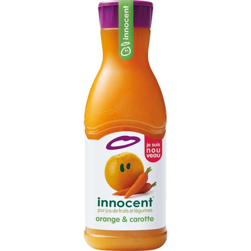 Pur jus réfrigéré orange carotte, Innocent (90 cl)