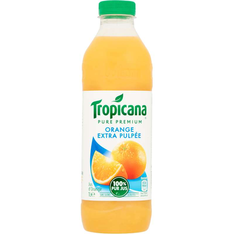 Jus d'orange extra pulpée, Tropicana (1 L)
