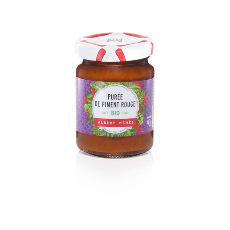 Purée de piment rouge extra-forte BIO, Albert Ménès (90 g)