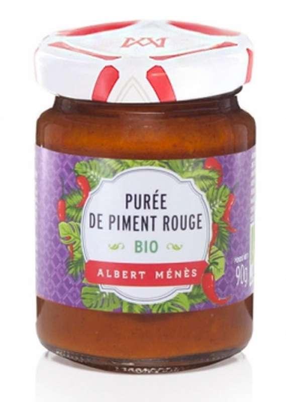 Purée de piment rouge forte BIO, Albert Ménès (90 g)