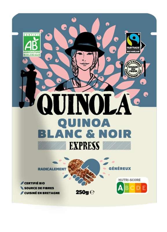 Quinoa express blanc et noir équitable BIO, Quinola (250 g)