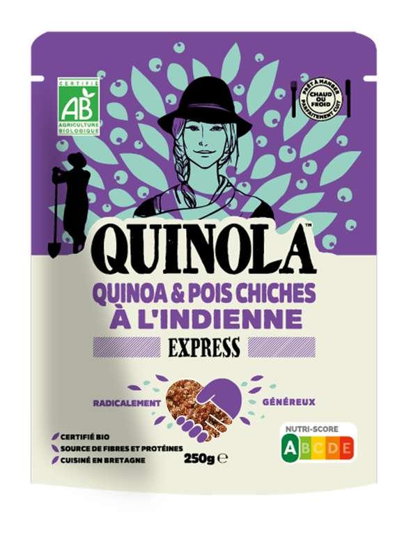 Quinoa express pois chiches à l'indienne BIO, Quinola (250 g)