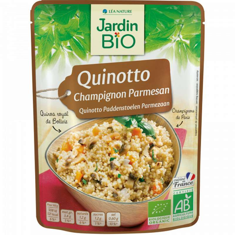 Quinoa champignons parmesan quinotto BIO, Jardin Bio (220 g)