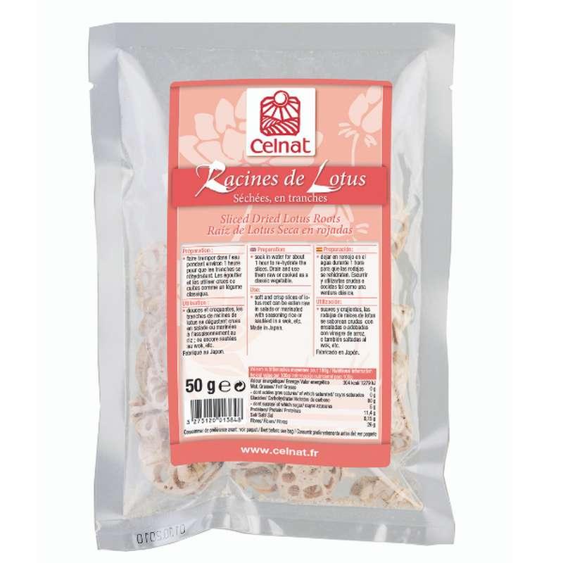 Racines de lotus (séchées, en tranches) BIO, Celnat (50 g)