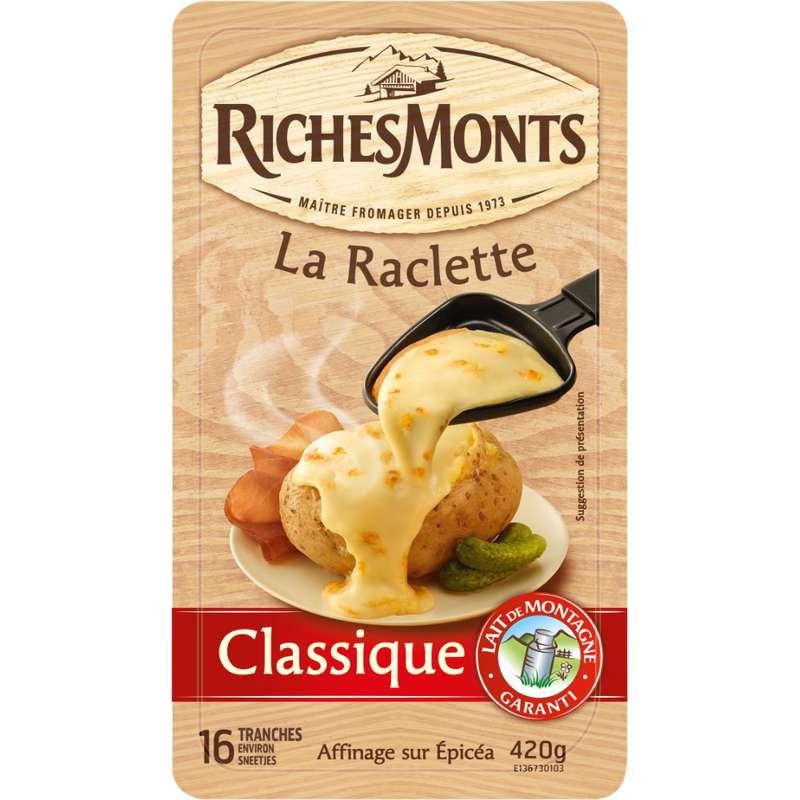 Raclette classique, RichesMonts (16 tranches, 420 g)