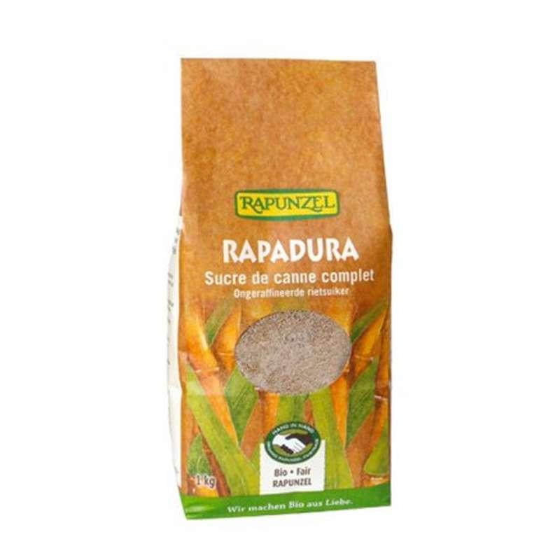 Sucre de canne complet Rapadura BIO, Rapunzel (1 kg)
